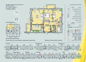 вариант расстановки мебели в типовой планировке трехкомнатной квартиры